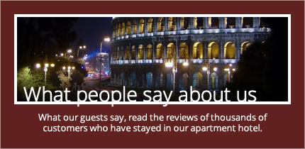 What our guests say, read the reviews of thousands of customers who have stayed in our apartment hotel